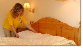Making your bed is not a chorse for our Teddington Domestic Cleaners